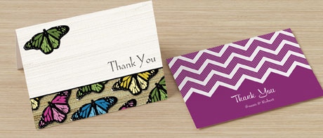 Custom personal or business thank you cards